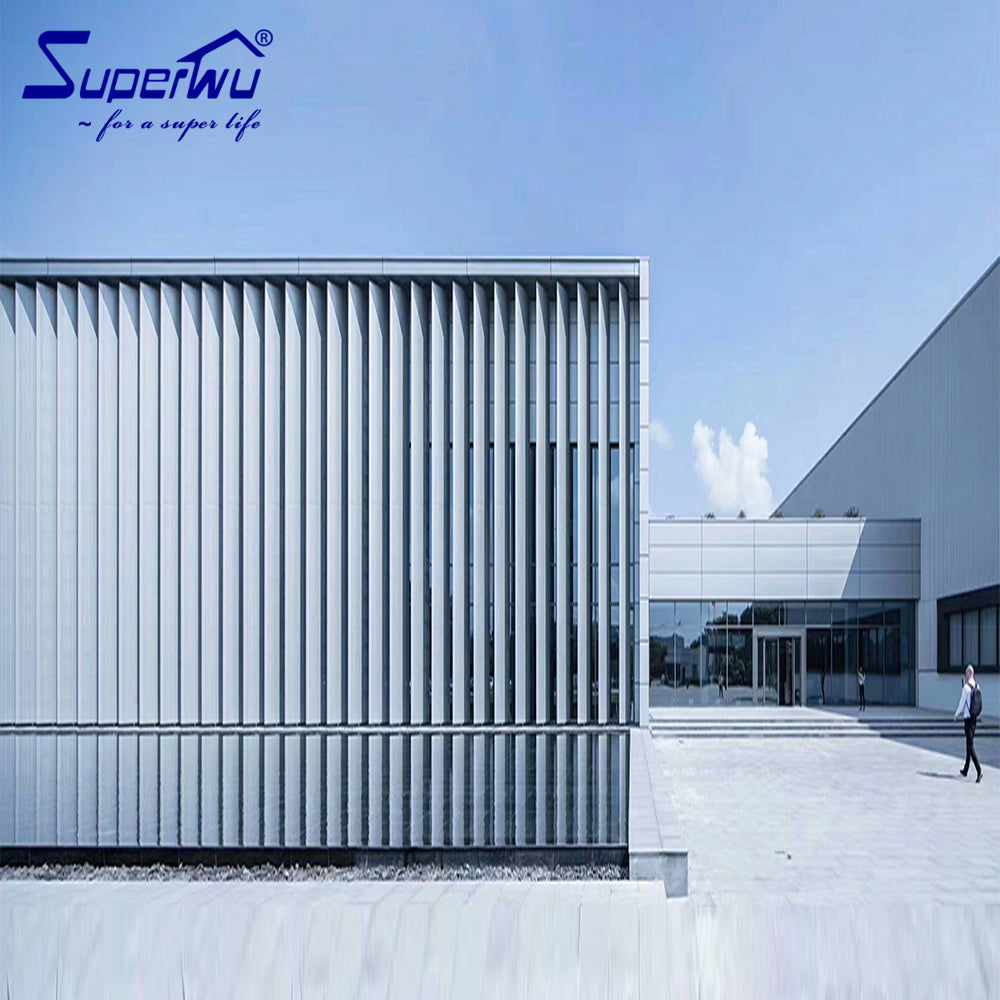 Superwu 2021Heating bulletproof fixed window aluminum glass curtain wall