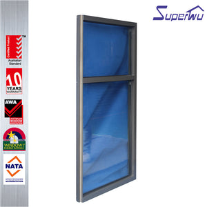 Superwu 2021High Quality factory direct sale aluminum frame fixed glass windows cheap price