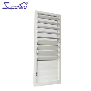 Superwu 2021Shanghai customized aluminum windows and doors exterior glass louver shutter window