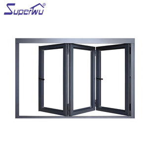 Superwu 2021High quality tempered double glazing alu fold window for house design