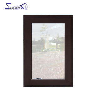 Superwu 2021American standard two different colors swing hinge windows high quality casement window top brand Australia standard AS2047