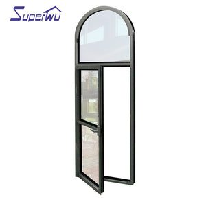 Superwu 2021Cheap Replacement Latest Design Aluminum Frame Two Way Open Tilt-Turn Tilt And Turn aluminium Casement Window
