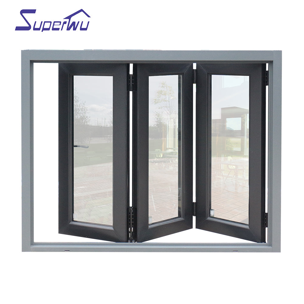 Superwu 2021manufacturers house alu alum windows bi-folding window for prefab homes