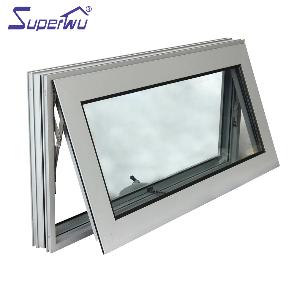 Superwu 2021Factory Directly Sell Window Grill Price Commercial Burglar Proof Made in China Aluminum Alloy Office Building Vertical Swing