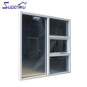 Superwu 2021Hot Sale Good Quality New Design Cheap Aluminium Awning Windows From China Supplier Chain Winder Windows