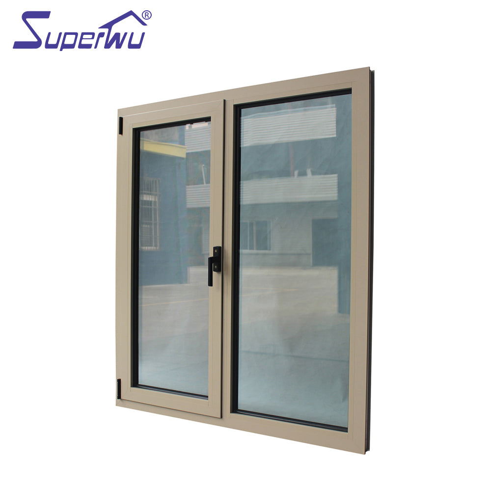 Superwu 2021California architectural residential project sound proof thermal break aluminum alloy double panel glass windows