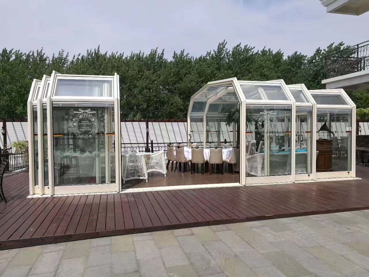 Superwu 2021Shade House Transparent Aluminum Alloy Toughened Glass Room Terrace European Automatic Sun Room