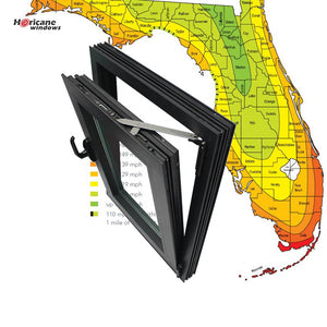 Superhouse 2021Florida Miami-Dade Hurricane Approved aluminium tilt and turn impact windows