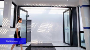 Superwu 2021California architectural residential project thermal break aluminum glass folding doors