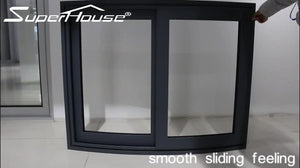 Superwu 2021Solution to hurricane proof Electronic Component Transistor double glazed aluminum fixed window in Australia USA market