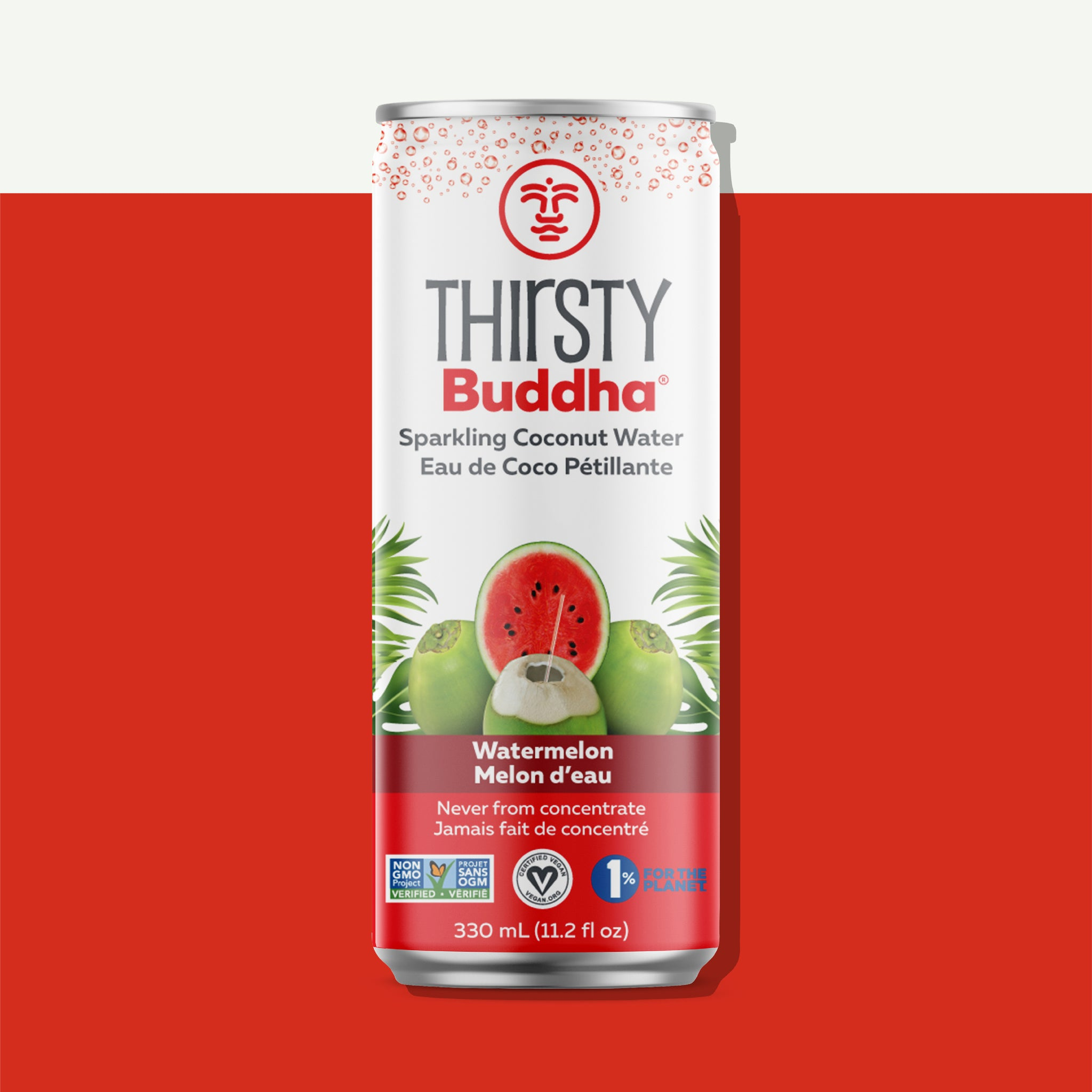 Sparkling Coconut Water with Watermelon (330ml)