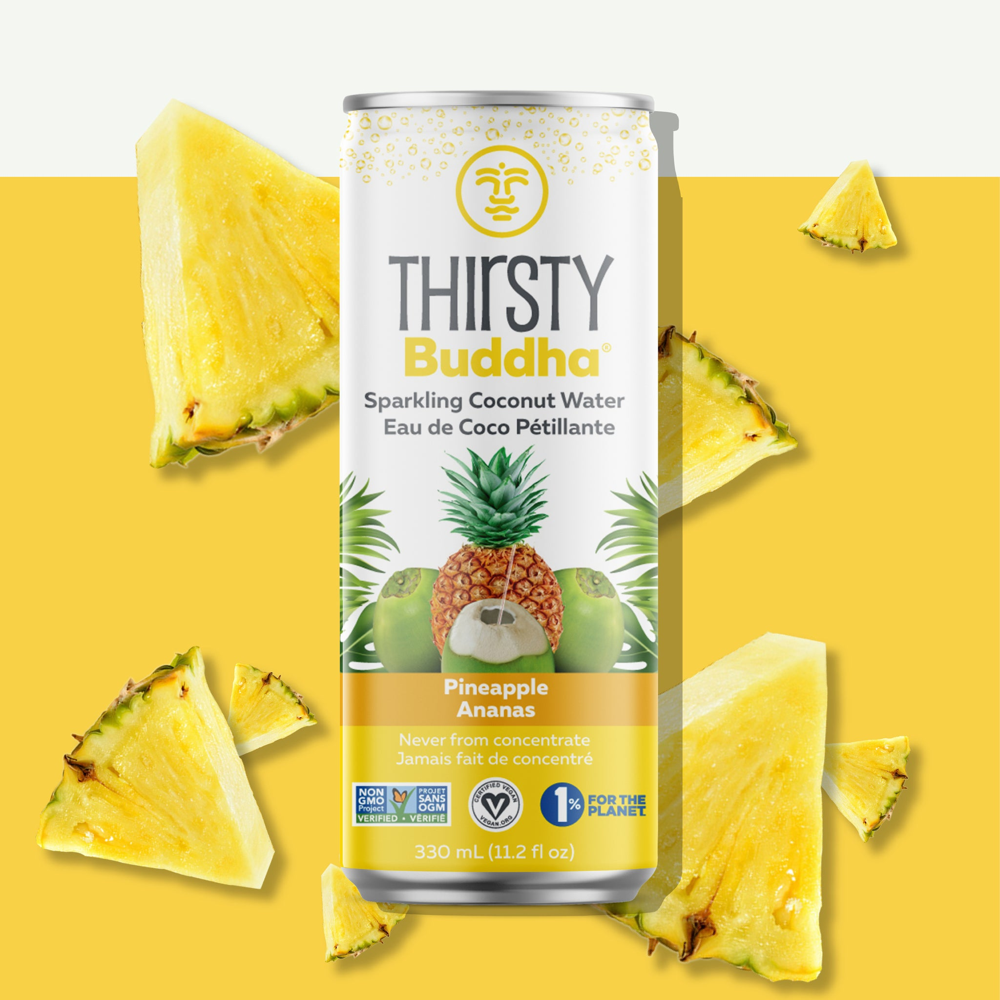 Sparkling Coconut Water with Pineapple (330ml)