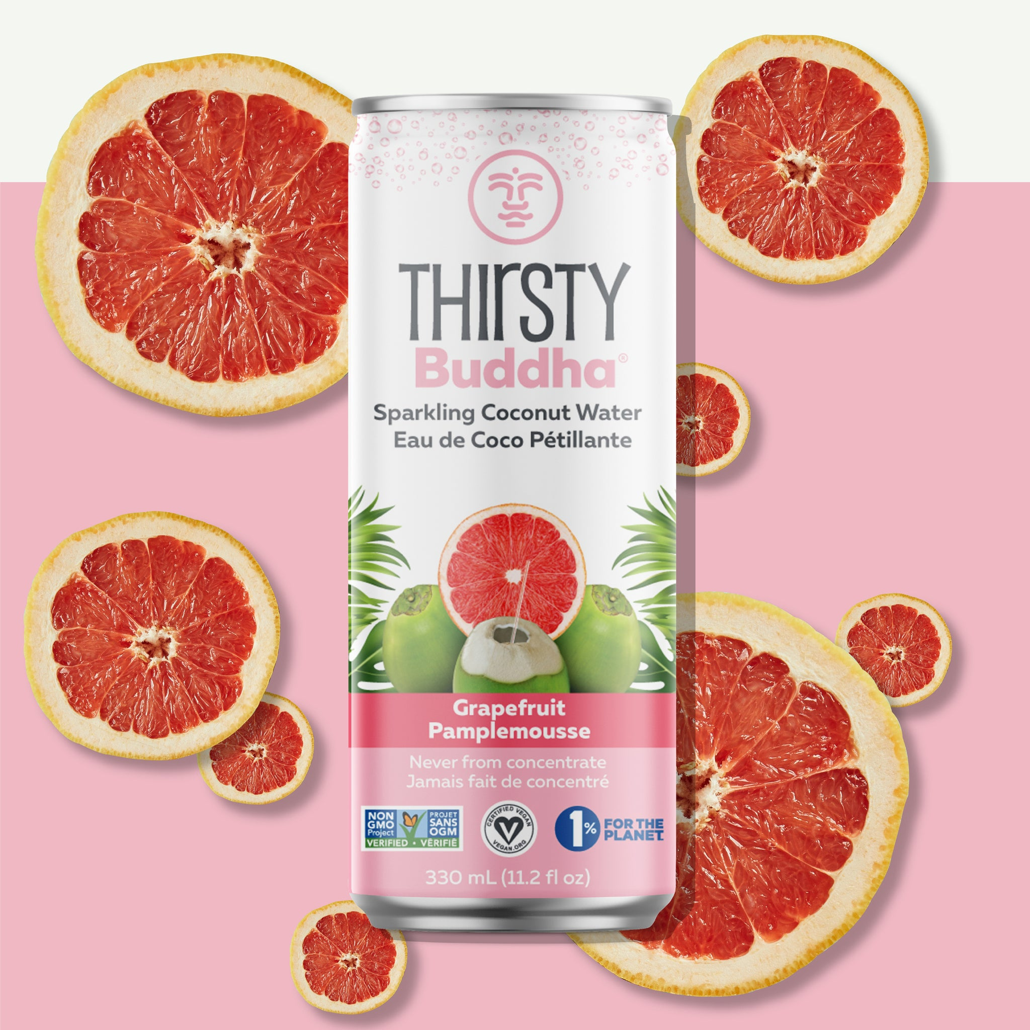 Sparkling Coconut Water with Grapefruit (330ml)