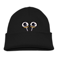 Kids Slug Eye Beanie - Black