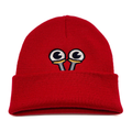 Kids Slug Eye Beanie - Red