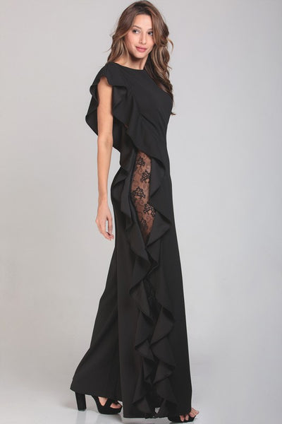 JUMPSUIT WAVES NEGRO ENCAJE