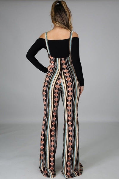 JUMPSUIT OVERALL MARISOL TRIBAL NEGRO