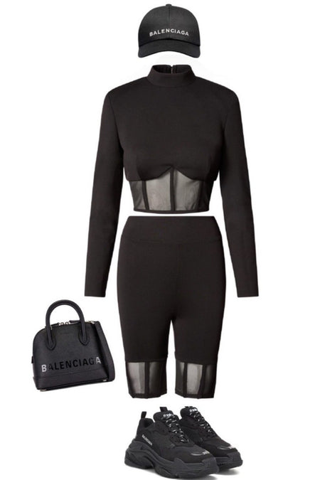 SET TRAJE NEED LOVE BLAZZER NEGRO