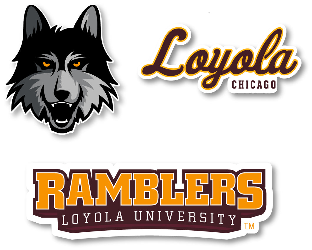 Loyola University Decal 3 Pack