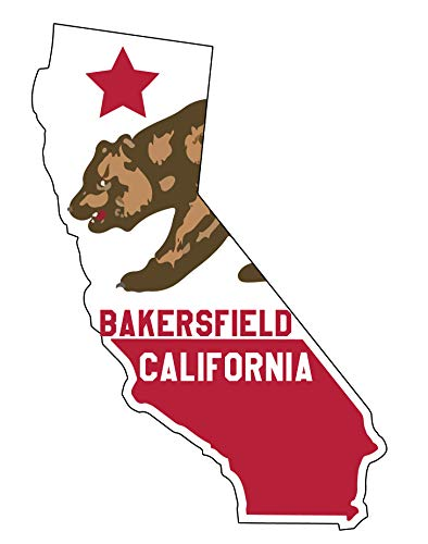 Bakersfield California State Shape Decal