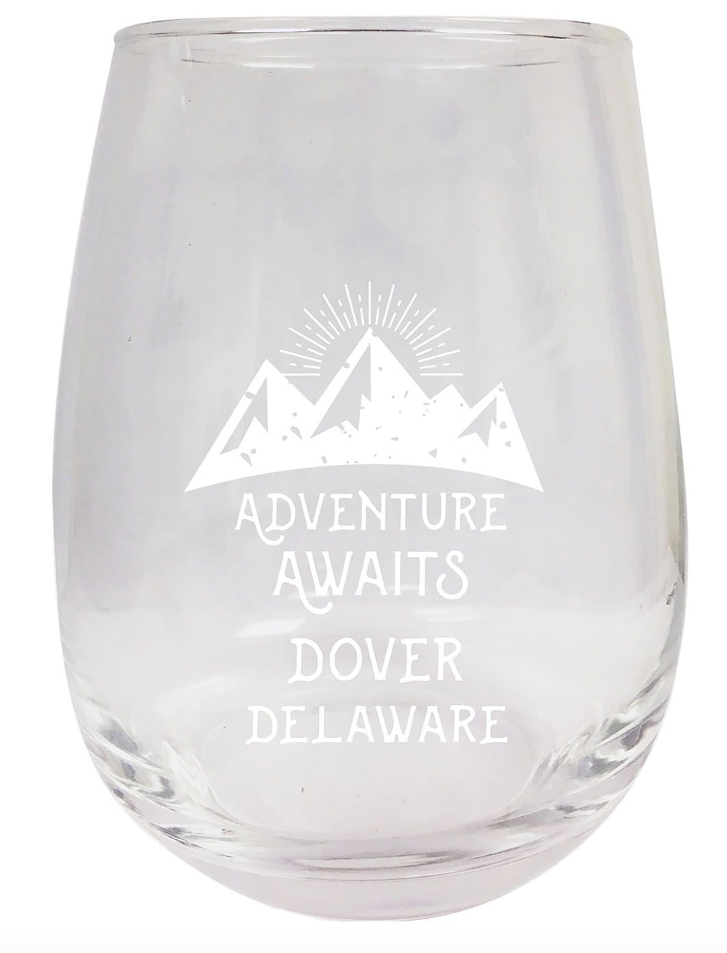 Delaware Engraved Stemless Wine Glass Duo