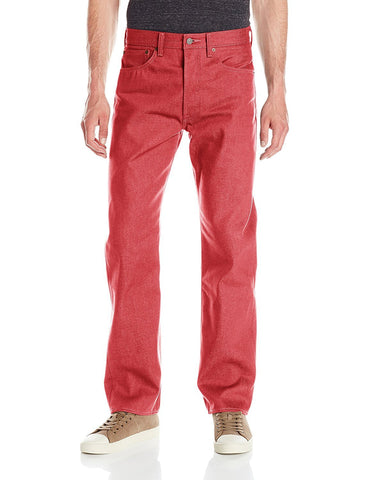 Levi's 501 Red Dahlia Shink-To-Fit Jeans