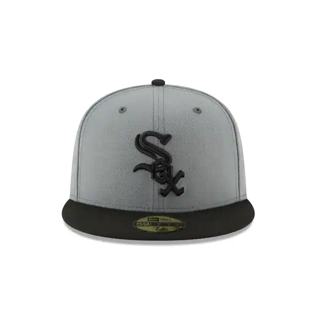New Era 59Fifty Black/Gray MLB Chicago White Sox Fitted W/Gray Undervisor