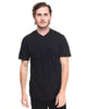 Born Fly Black Solid V-Neck T-Shirt