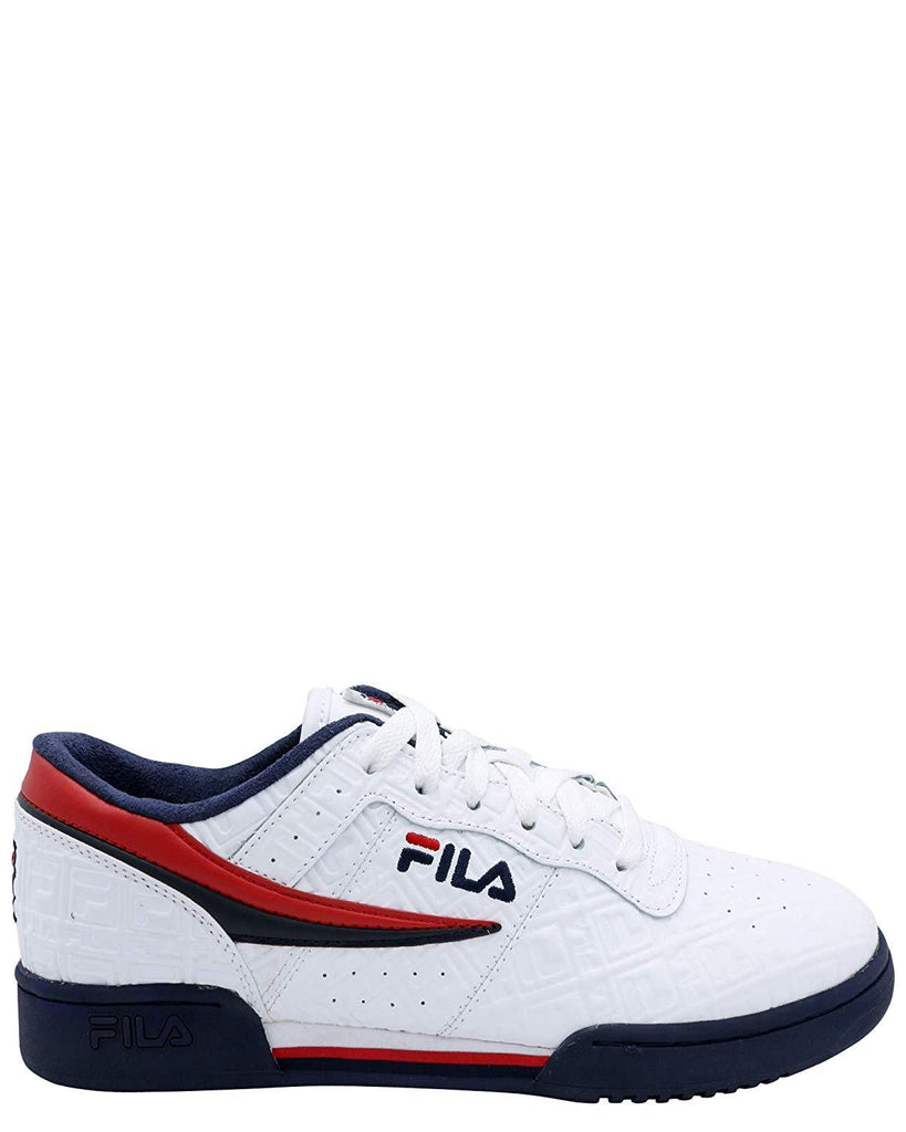 Fila Original Fitness Embossed Small F-Box White/Navy-Red