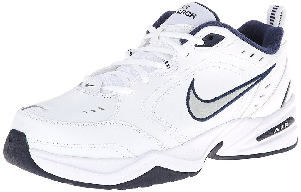 Nike Air Monarch IV Wide 4E White/Metallic Silver