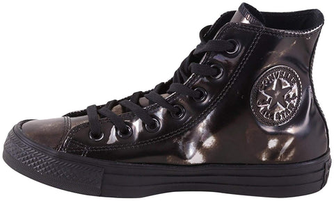 Converse Chuck Taylor All Star Brush-Off Leather Hi Black/Pure Silver/Black (WS)