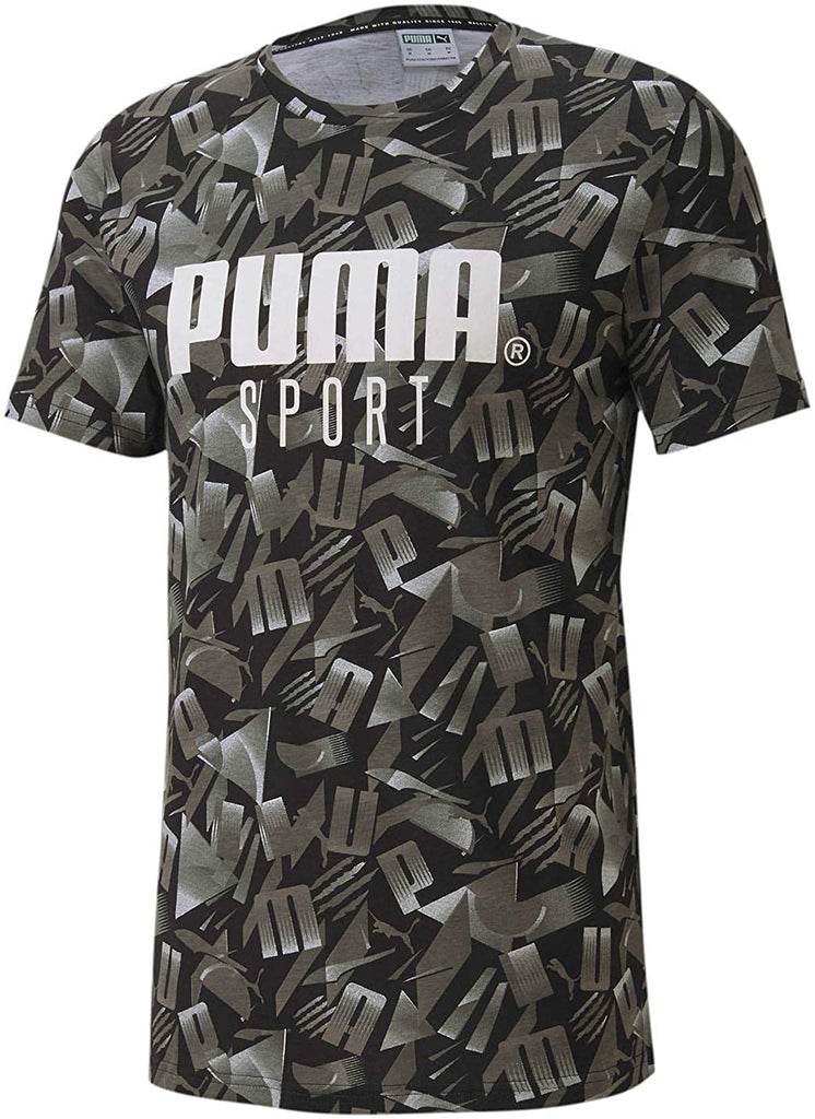 Puma Sport AOP T-Shirt Cotton Black