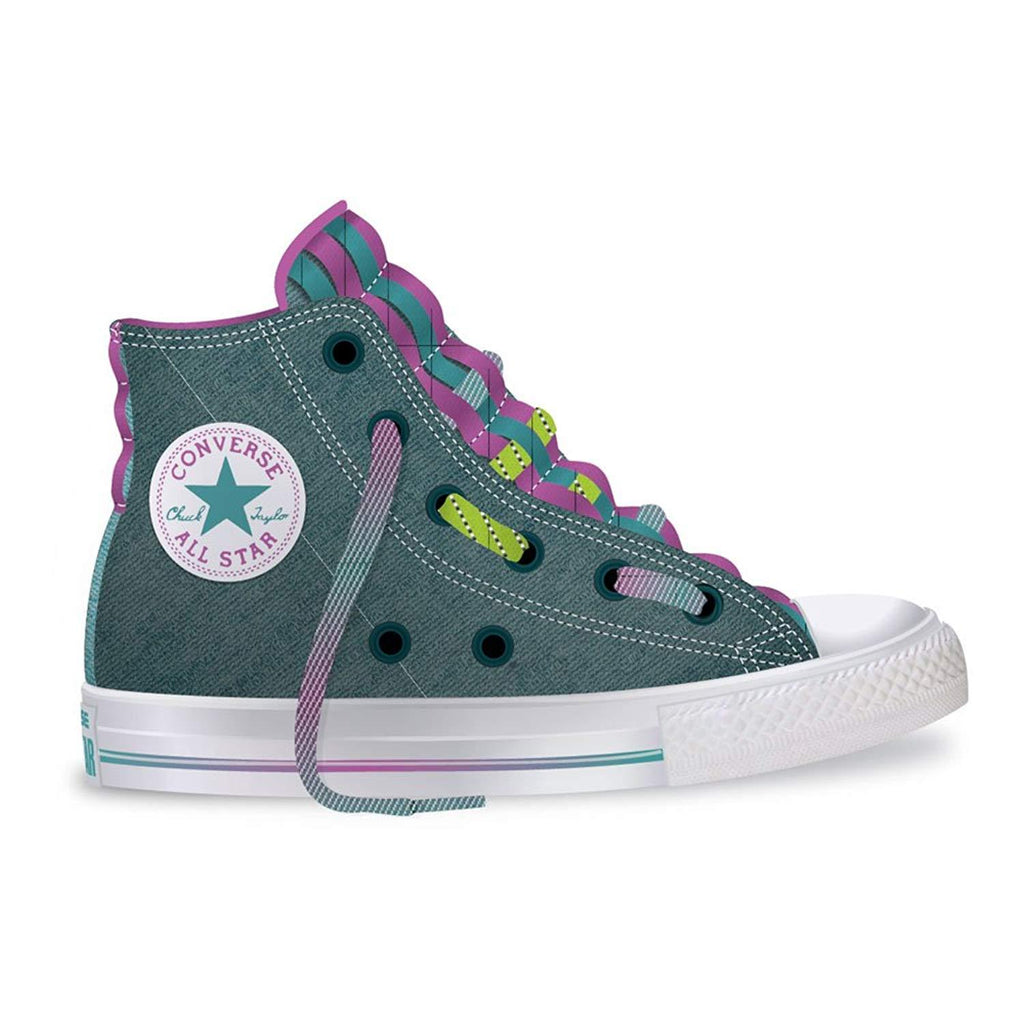 Converse All Star Loopholes Hi Shadow Teal/Aegean Aqua (PS)