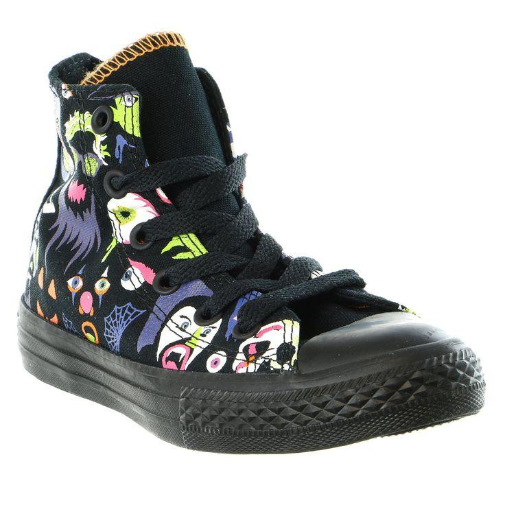 Converse Chuck Taylor All Star High Black/Bold Lime (PS)