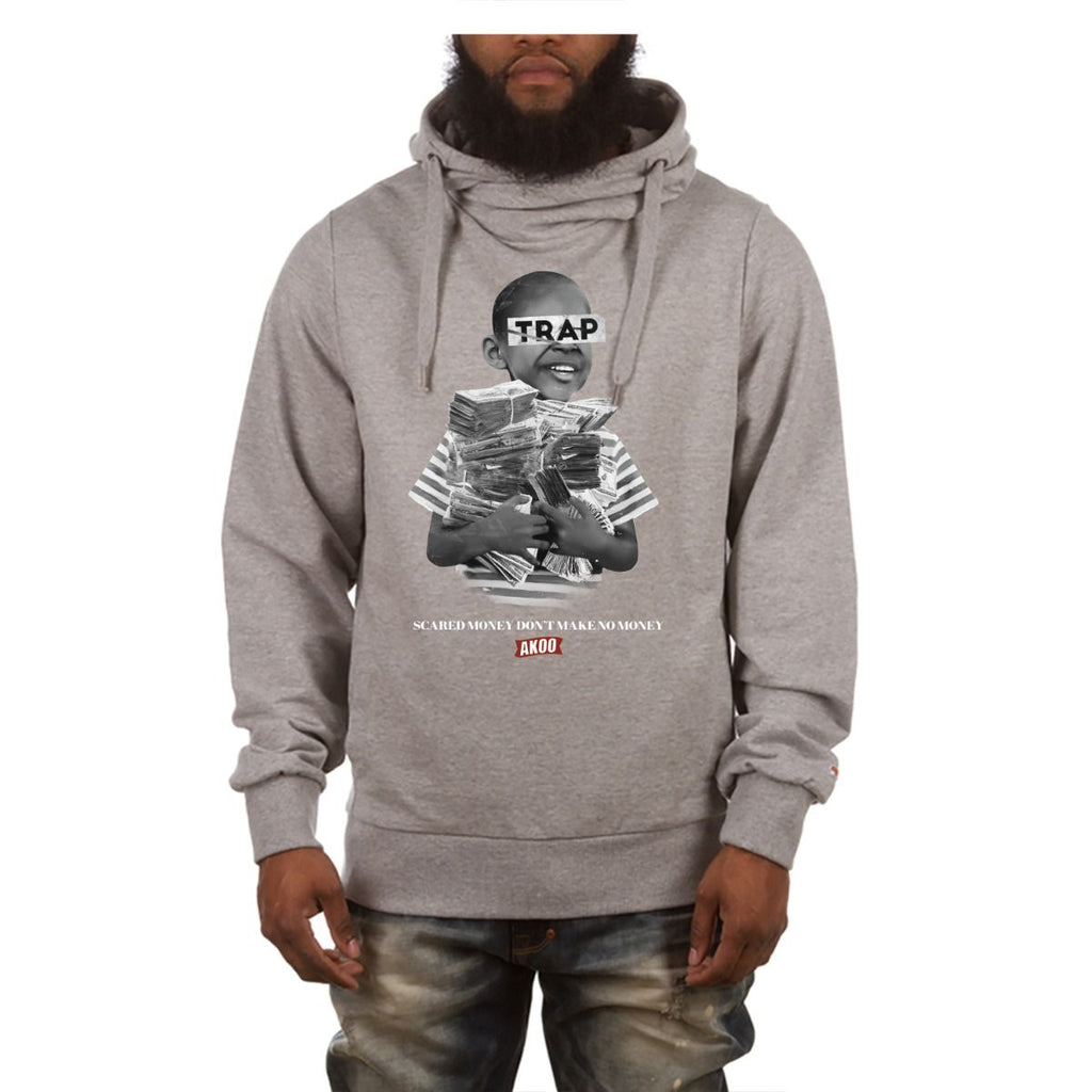 Akoo Heather Grey Money Pullover Hoodie