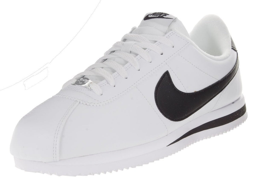 Nike Cortez Basic Leather White/Black-Metallic Silver