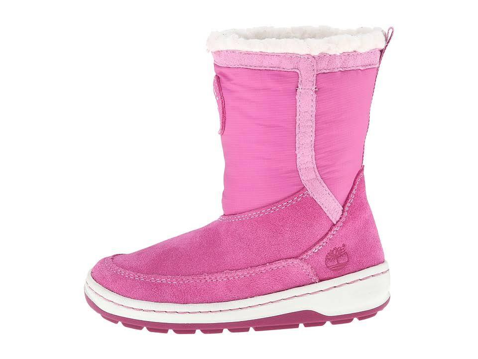 Timberland Winter Fleece Mid Pull On Boot Pink/White (GS)