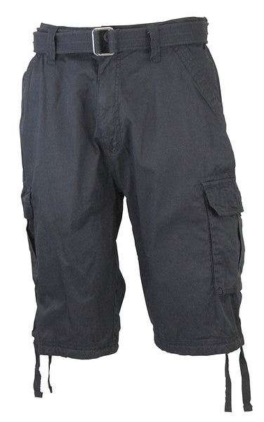 Ablanche Black Belted Cargo Shorts