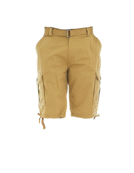 Ablanche Khaki Belted Cargo Shorts