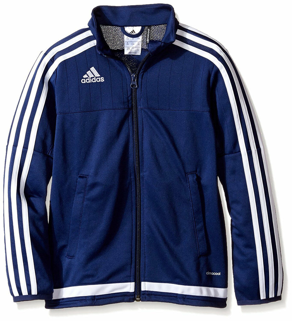 Adidas Youth Dark Blue/White/Dark Blue Training Jacket