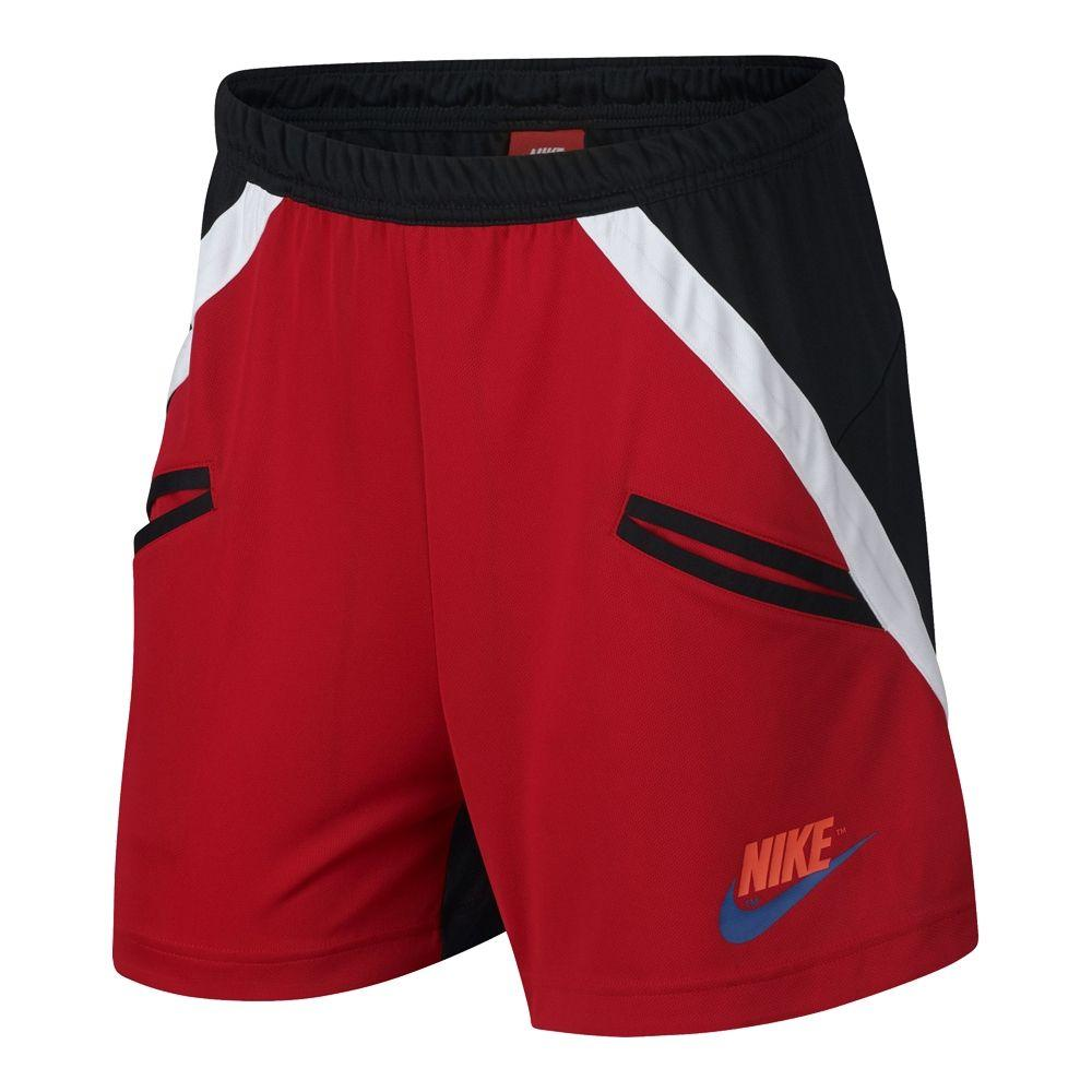 Nike Sportswear Red/Black Knit Shorts