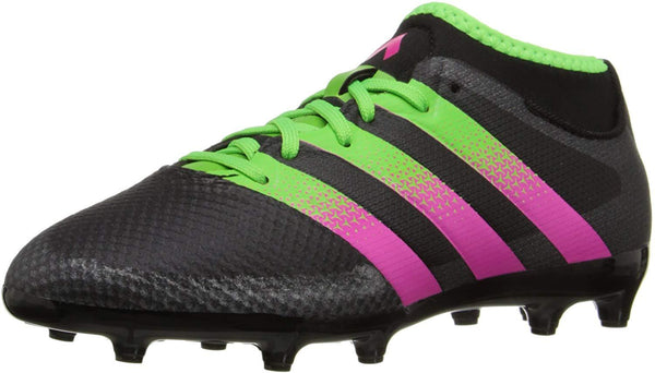 Adidas Ace 16.3 Primemesh FG/AG J Black/Green/Shock Pink Soccer Shoe (PS/GS)