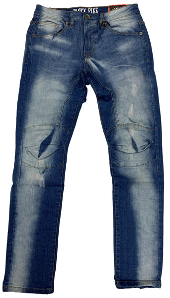 Black Pike Slim Fit Denim Pants Light Indigo