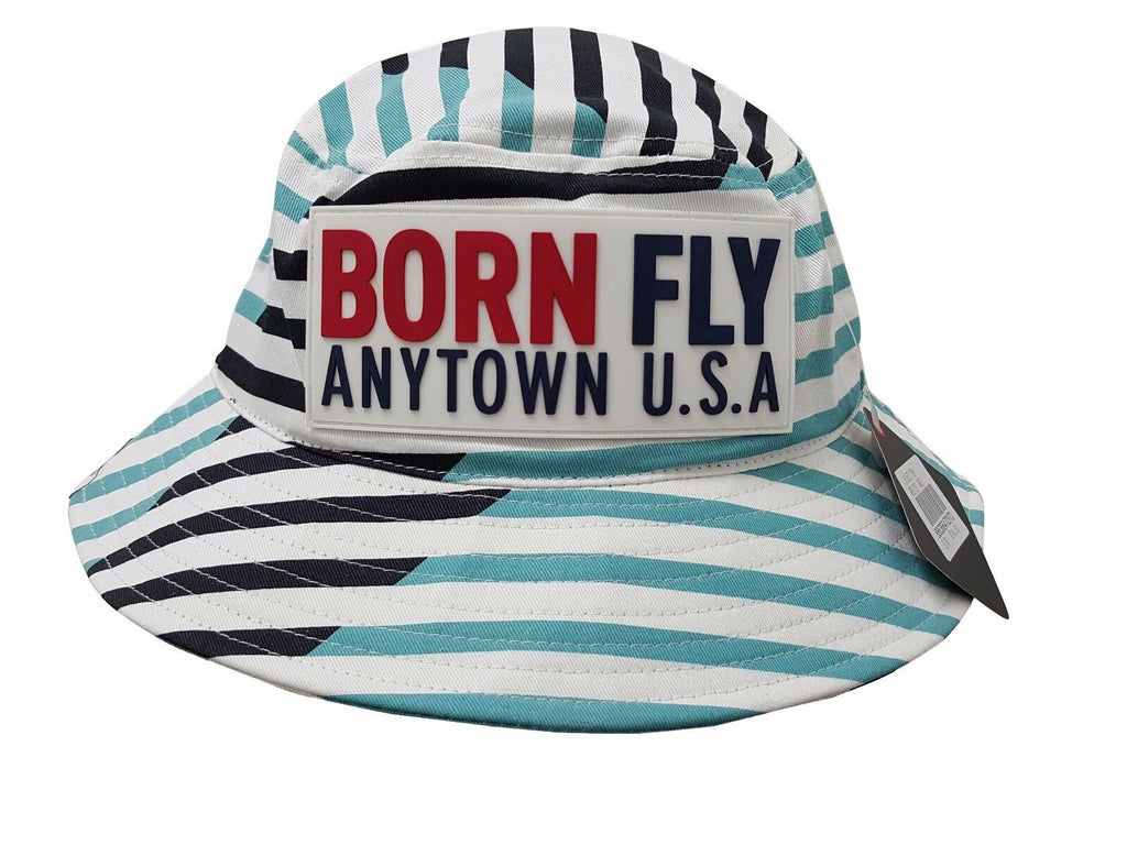 Born Fly White Auxiliary Bucket Hat