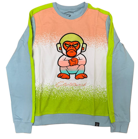 Civilized Light Blue Ape Bizness Crewneck Sweatshirt