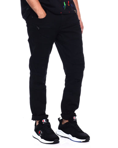 8IGHTH DSTRKT Black Biker Denim