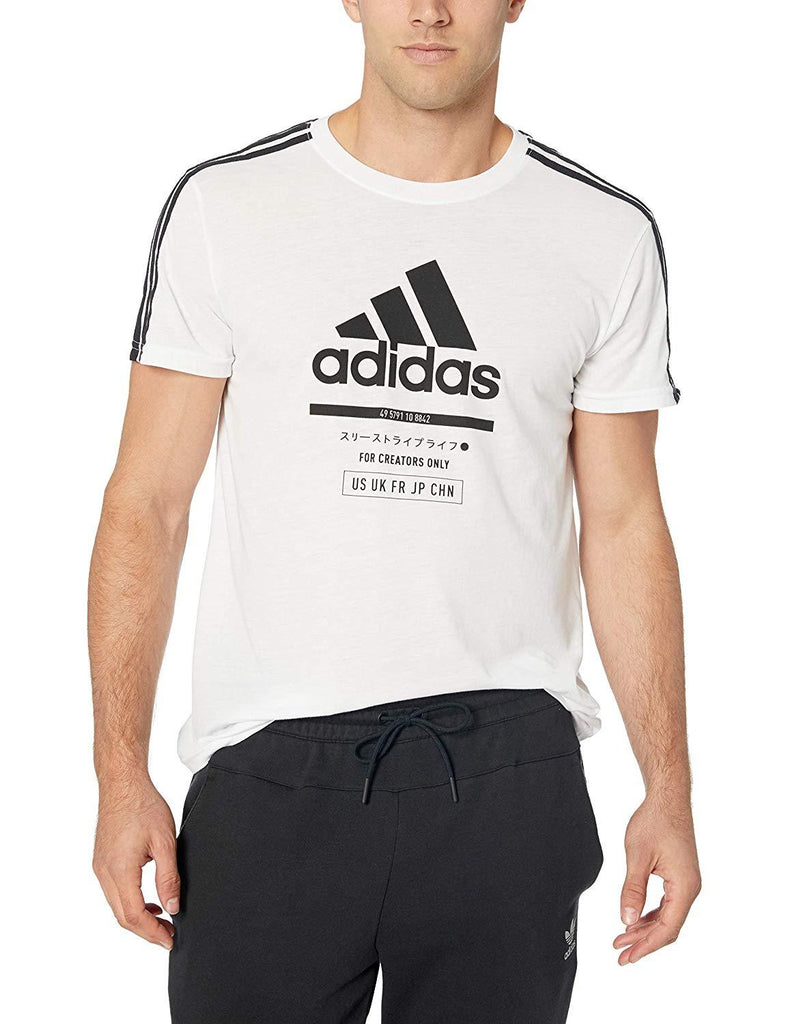 Adidas White Badge Of Sport International T-Shirt