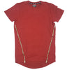 R.S. 1NE Marsala Elegens Maze Quilt Elongated T-Shirt