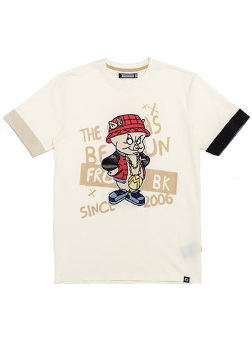 Genuine Off White Porky Bling Cut & Sew T-Shirt