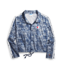 Champion Imperial Indigo Zipper Tape Cropped Coaches Print Jacket